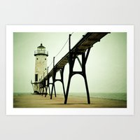 Manistee Light Art Print