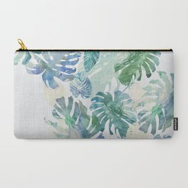 Carry-All Pouch - tropical cold leaves - franciscomffonseca