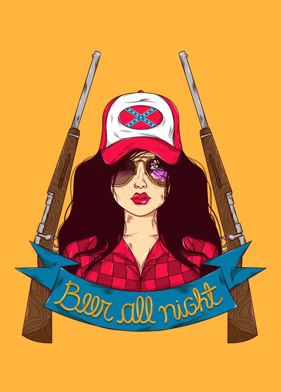 Dangerous Girls - Redneck Art Print