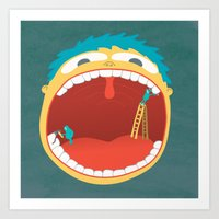 Oh, They're Teeth People… Art Print