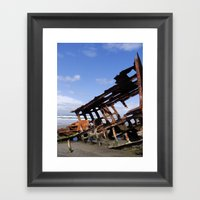 Wreck of the Peter Iredale Framed Art Print