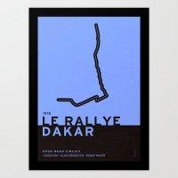 Legendary Races - 1978 Le rallye Dakar Art Print
