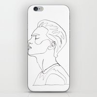side portrait  iPhone & iPod Skin