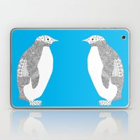 Light Blue-Penguin Laptop & iPad Skin