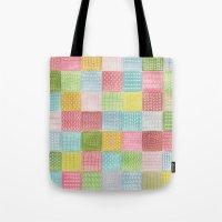Watercolor Quilt Tote Bag