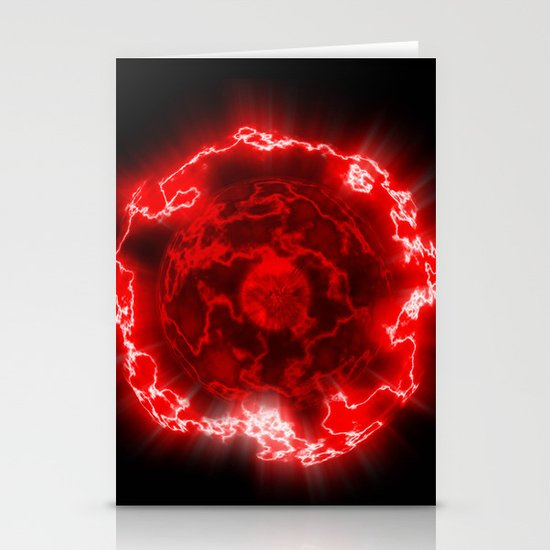 Red Nova Stationery Card