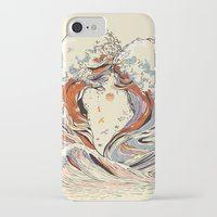 heart iPhone & iPod Cases featuring The Wave of Love by Huebucket