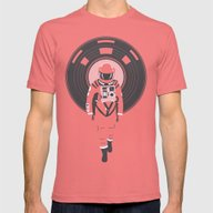 DJ HAL 9000 Mens Fitted Tee Pomegranate SMALL