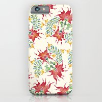 Dragon Flower Watercolor iPhone 6 Slim Case