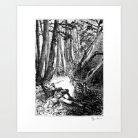 Murder in the Pines Art Print