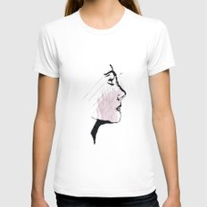Portrait Womens Fitted Tee White SMALL
