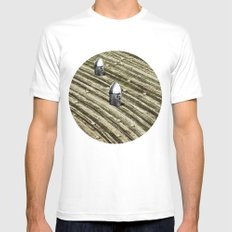 TERRITORIO VISUAL Mens Fitted Tee SMALL White