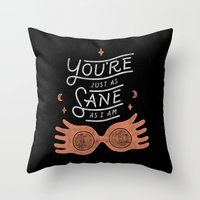 Sane Throw Pillow