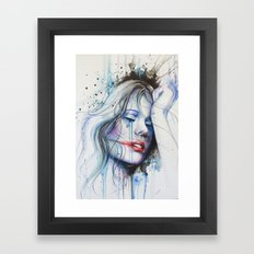 Jay Freestyle - Girl painting Framed Art Print