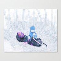 Samurai Monkey Canvas Print
