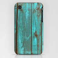 WoodBlue1 iPhone (3g, 3gs) Slim Case