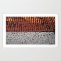 Rainy Mood on the Roof Art Print