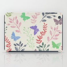 Watercolor flowers & butterflies iPad Case