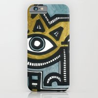 Blue and Gold Face iPhone 6 Slim Case