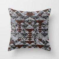 Wood Galaxy Throw Pillow