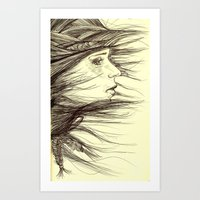 Swept Away Art Print