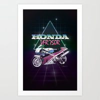80s Motorcycle Poster Art Print