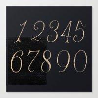 Numbers-Clock Canvas Print