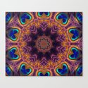 Peacock Fan Star Abstract Canvas Print