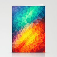 Abstract Multi Color Cub… Stationery Cards