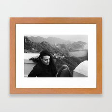 up on mountain road with nice views Framed Art Print