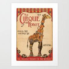 Robot Circus - Giraffe Art Print