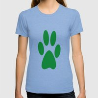 Paw Womens Fitted Tee Tri-Blue SMALL