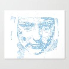 facial shapes - blue Canvas Print