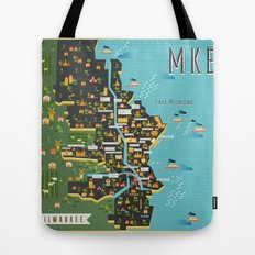 Mapping  Milwaukee Tote Bag