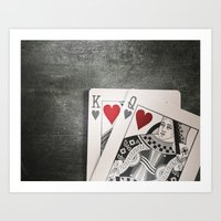 King and Queen of Hearts Art Print