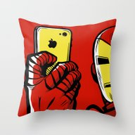 Stark #Selfie Throw Pillow