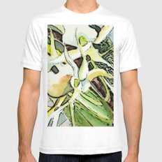 Darwins Orchid Mens Fitted Tee SMALL White