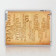 Viking Prayer Laptop & iPad Skin