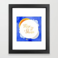 Rise and Shine Framed Art Print