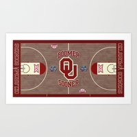 Oklahoma #Sooner #FinalFour design. Art Print