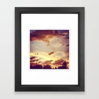 red clouds Framed Art Print
