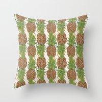 PINA COLADA: Pineapple Throw Pillow