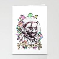 Xoxo Twisty (color) Stationery Cards