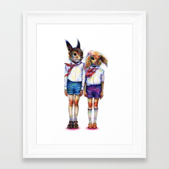 Shurik and Lyosha Framed Art Print