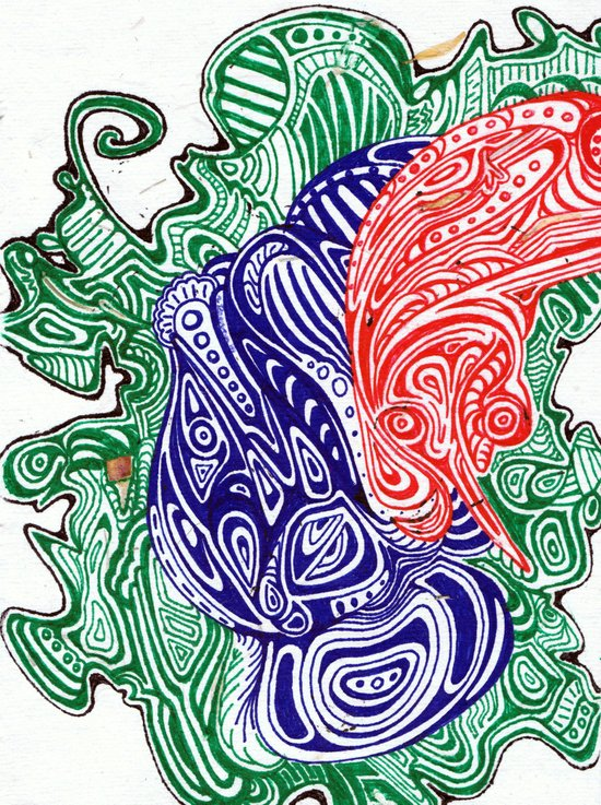 Brain Smog Art Print