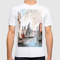 Venice Days Mens Fitted Tee Ash Grey SMALL