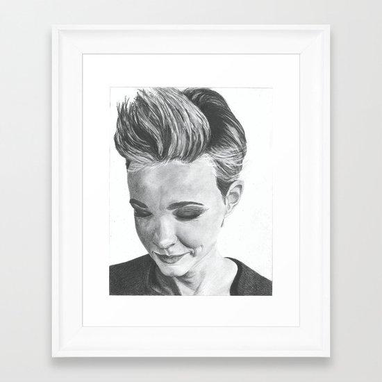 Carey Mulligan Framed Art Print