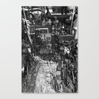 One Man's Possessions Canvas Print