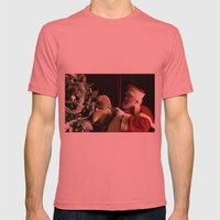 Teddy Talk Mens Fitted Tee Pomegranate SMALL