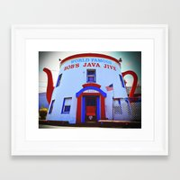 Framed Art Print featuring Coffee shop landmark by Vorona Photography